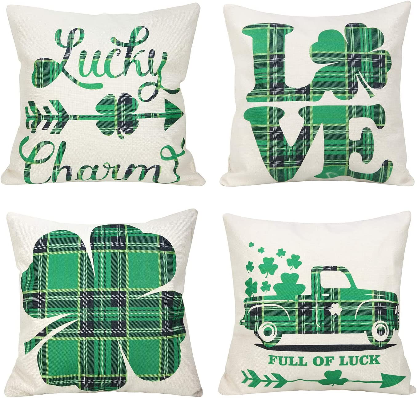 New arrival Merrycolor St. Patrick's Genuine Day Pillow Covers 4 Set of 18 X Inch