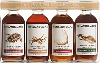 Runamok Maple Organic Vermont Maple Syrup Sampler | Tea Pairing Maple Syrup Collection | 2 oz (4 count) | 6...