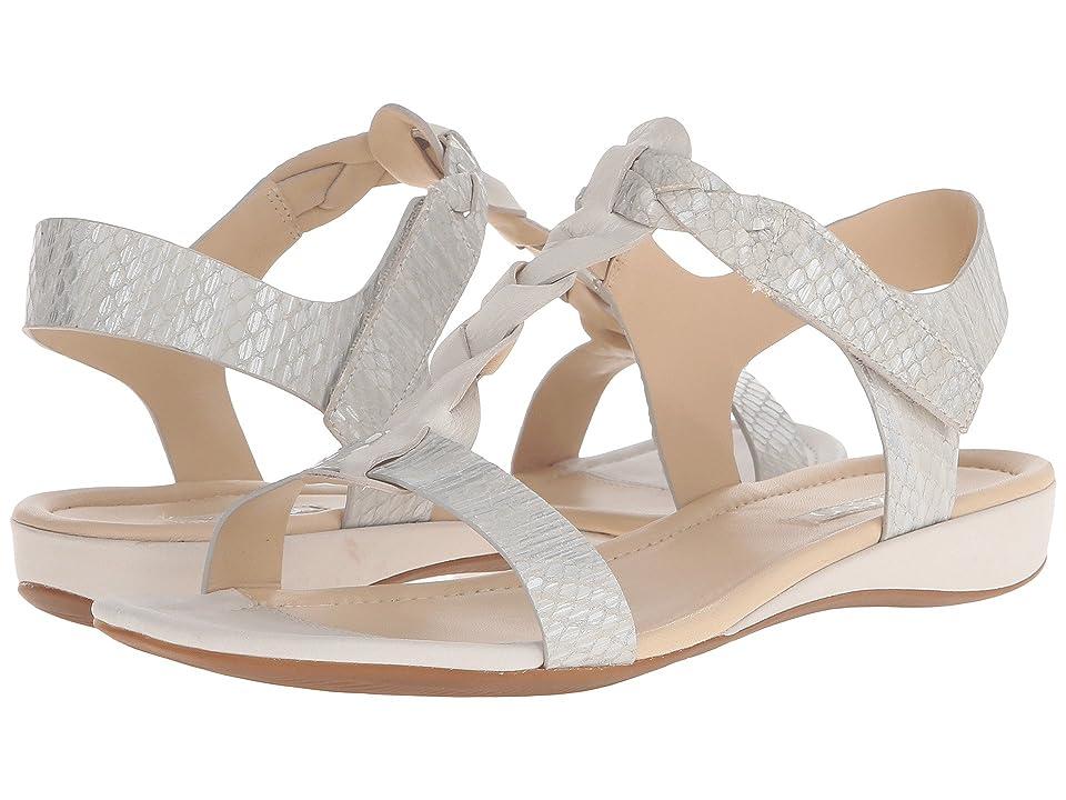 ECCO Bouillon Knot Sandal II (White/White/Silver Metallic) Women
