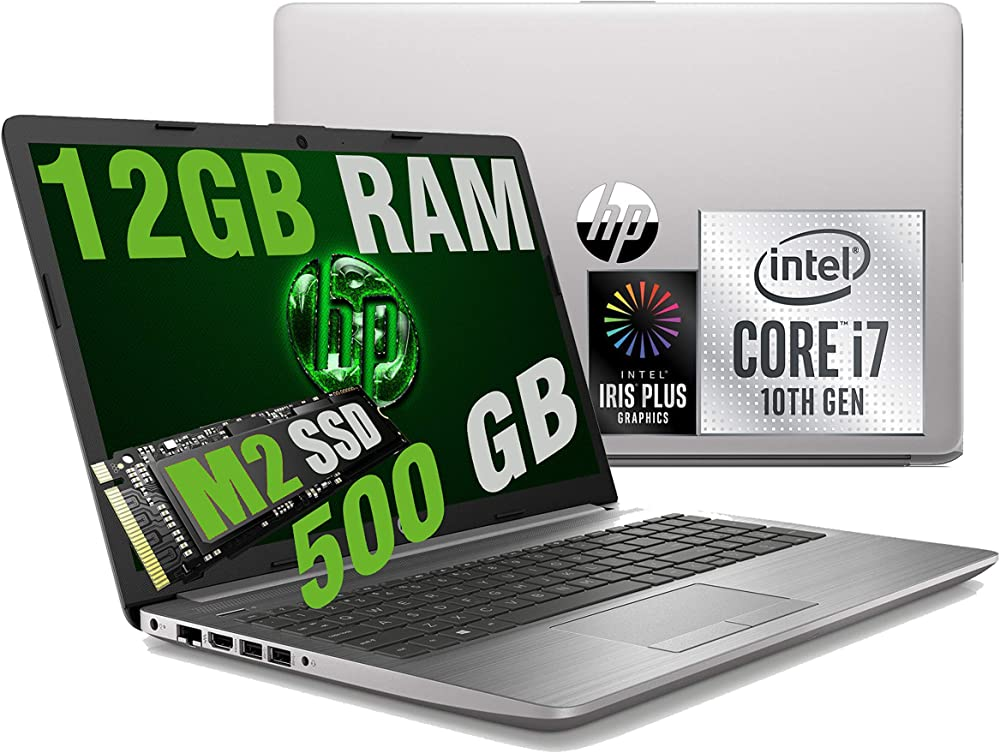Notebook hp i7 250 g7, cpu intel quad core i7-1065g7 10th, ram 12gb ddr4 /ssd  500gb /graphic intel iris plu HP-I7-10/12GB/500GB/W10H