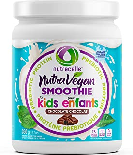 NUTRAVEGAN Plant Based Protein Powder with Pea Protein For Kids, Hemp & Pumpkin Seed, Organic Rice and Acacia Fiber | Orga...