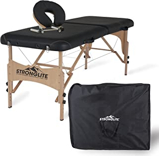 STRONGLITE Portable Massage Table Package Shasta - All-In-One Treatment Table w/ Adjustable Face Cradle, Pillow & Carrying Case (28