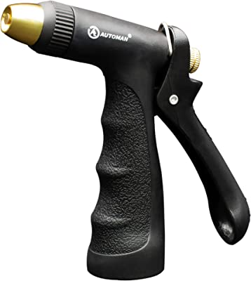AUTOMAN-Garden-Hose-Nozzle,Adjustable Sprayer Nozzle with Brass Tip.