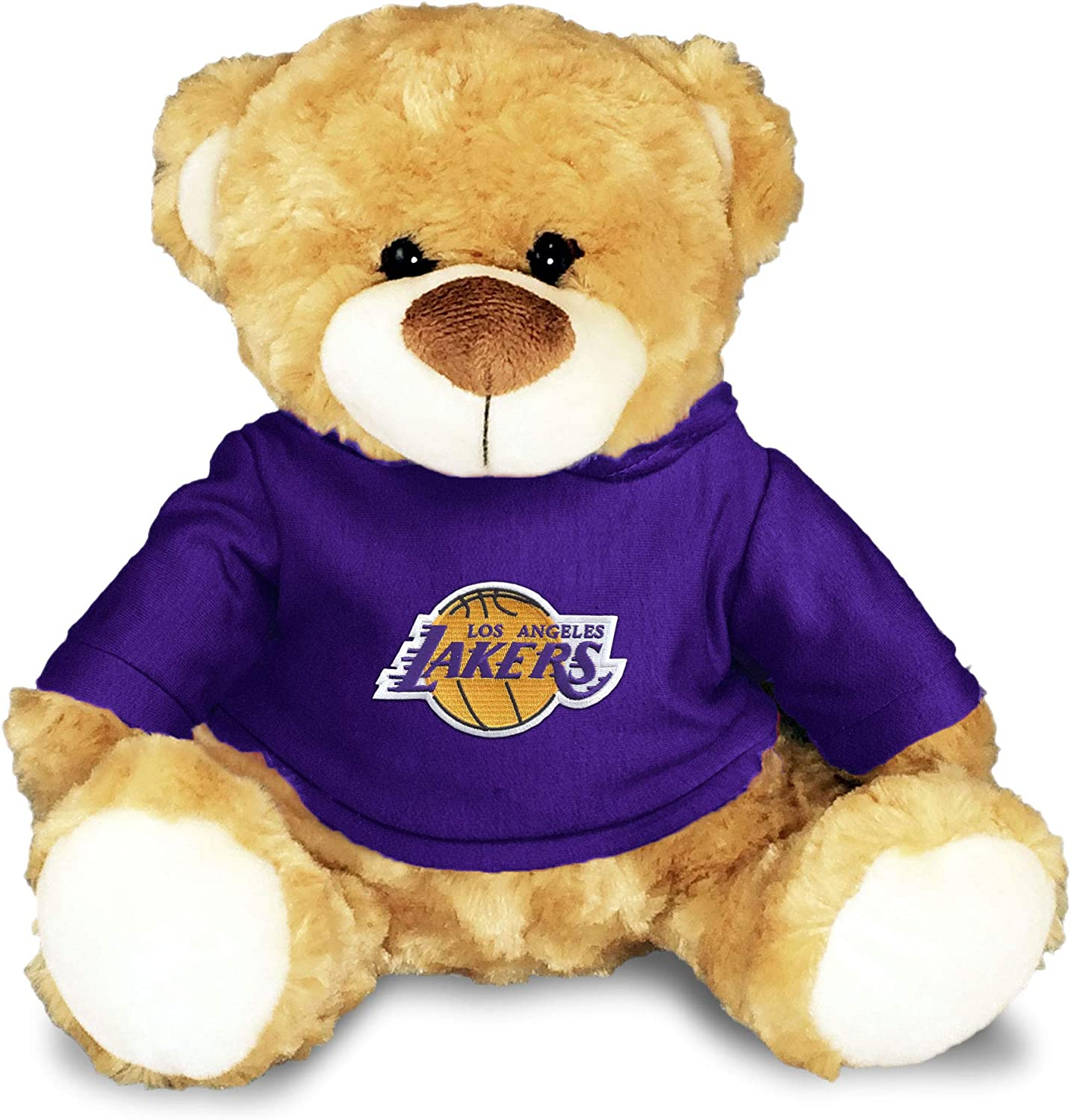 Los Angeles Lakers Baby Plush Bear - Personalized Teddy Bear with Baby Name Embroidery and Official NBA Logos, 100% Polyester, Removable Hooded ...