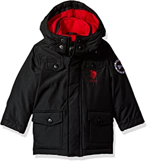US Polo Association Toddler Boys' Outerwear Jacket (More Styles Available), UB49-Parka-Black, 3T