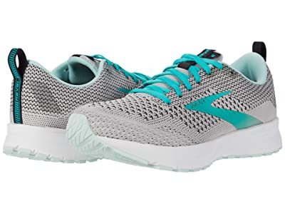 Brooks Revel 4 (Grey/Fair Aqua/Black) Women