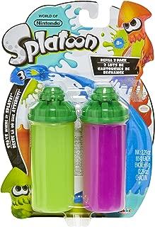World of Nintendo Splatoon Splattershot Refill 2-Pack, Lime Green/Purple Slime