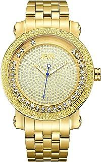 ساعة مرصعة بـ20 قطعة الماس بسوار ستانلس ستيل للجنسين من جيه بي دبليو، موديل J6338B