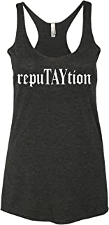 RepuTAYtion Women's Triblend Racerback Tank Top Black