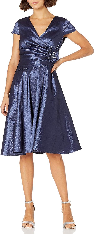 Jessica Howard Women's Peplum Cap Sleeve Dress (Regular, Petite & Plus)
