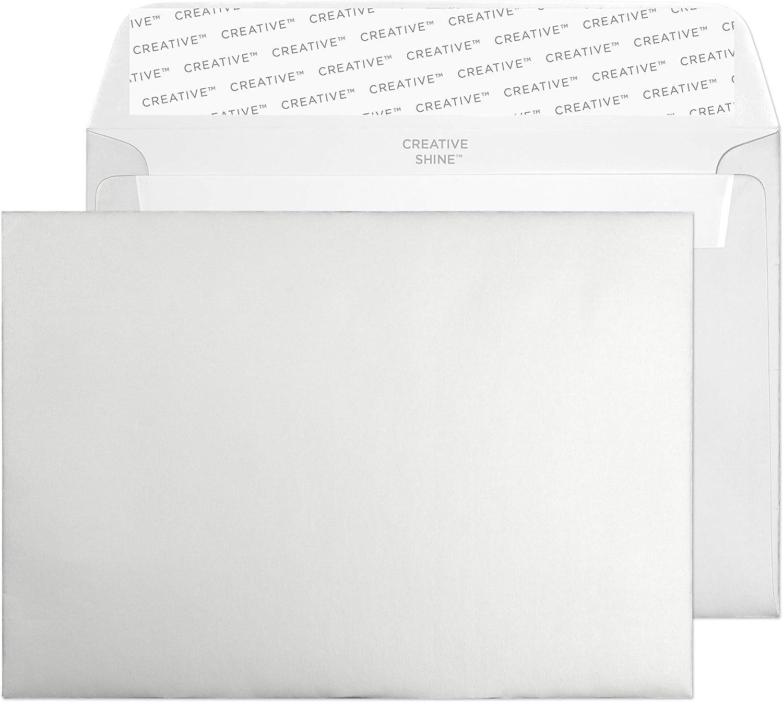 Creative Shine C6 114 x 162 mm Wallet schälen und Seal Umschlag – parent metallic Silber B00654ILUQ   Zarte
