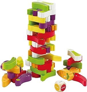 Hape Stacking Veggie Game, E1008, 55 Pieces