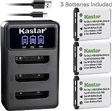 Kastar Battery 3-Pack and LCD Dual Charger for Olympus LI-42B LI-40B, Fujifilm NP-45 NP-45A NP-45B NP-45S, Nikon EN-EL10, Kodak KLIC-7006 K7006, Casio NP-80 CNP80, Pentax D-Li63 D-Li108, Ricoh DS-6365