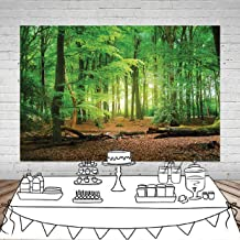 8x8FT Vinyl Photography Backdrop,Forest,Wilderness Theme Foliage Background for Graduation Prom Dance Decor Photo Booth Studio Prop Banner
