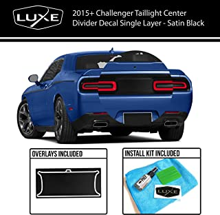 Luxe Auto Concepts 2015+ Challenger Taillight Center Divider Decal - Satin Black