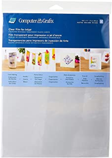 Best Grafix Ink Jet Film, 8-1/2-Inch by 11-Inch, 6-Pack, Clear - KCI811-6 Review