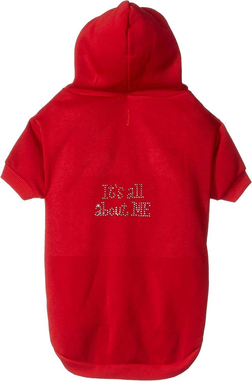 Mirage Pet Products 20Inch It's All About Me Rhinestone Hoodies, 3XLarge, Red