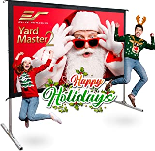 Elite Screens Yard Master 2, 110 inch Outdoor Projector Screen with Stand 16:9, 8K 4K Ultra HD 3D Fast Folding Portable Movie Theater Cinema 110