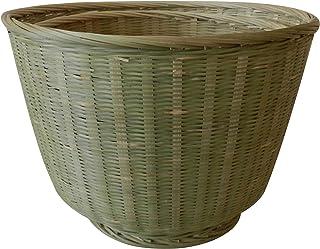 CVHOMEDECO. Paniers de rangement ronds en bambou Paniers à linge pour la maison, le bureau, la cuisine, l'organisateur de ...