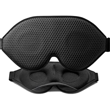 Unimi Sleep Mask 2020 New Arrival 3D Contoured Cup, Sleep Eye Mask for Women Men, Soft Lycra Material Eye Mask for Sleeping, Breathable Material, Eye Shade Cover with Adjustable Strap for Travel Black