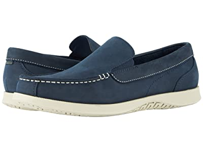 Nunn Bush Bayside Lites Venetian Moc Toe Slip-On (Navy) Men