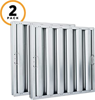 Kleen-Gard Aluminum Commercial Kitchen Range Hood Filter, 20x20x2, (Pack of 2)