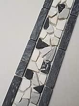 Retro Vintage Glasmosaik Fliesen Blau Grau Beige 30x30 Matten Mehrfarbig 15534