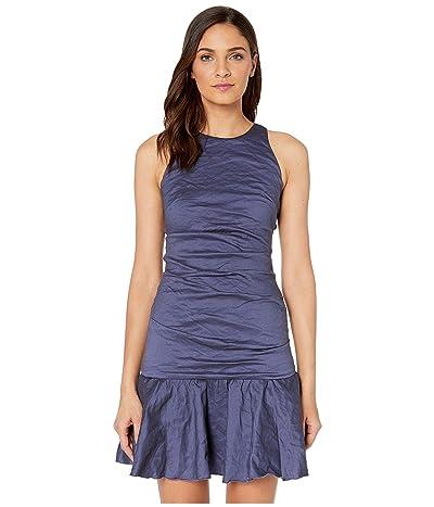 Nicole Miller Ruffle Hem Dress (Denim Blue) Women