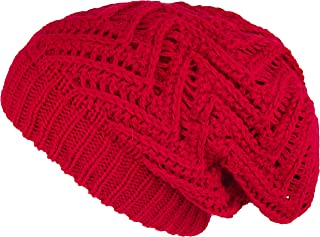 Lilax Knit Oversized Slouchy Chunky Soft Warm Winter Baggy Beanie Hat