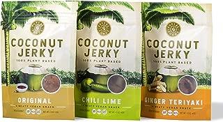 Coconut Jerky (Paleo Vegan Keto Gluten-Free) - NEW RECIPE! (3 Pack Sampler)