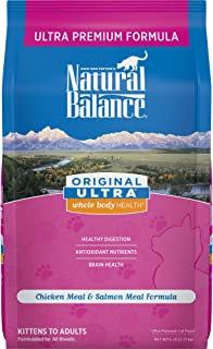 Natural Balance Original Ultra Whole Body Health Dry Cat Food, Chicken Meal & Salmon Meal
