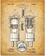 Vacuum Tube - 11x14 Unframed Patent Print - Great Gift Under $15 for Amateur Radio Operators and Audiophiles