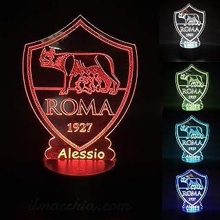 Calcio Roma lampada led da tavolo notturna arredo decorazione cameretta bambino