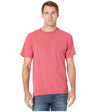 Hanes ComfortWashtm Garment Dyed Short Sleeve T-Shirt (Crimson Fall) Clothing