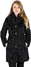 Laundry by Shelli Segal Woman's Black Faux Fur Puffer Reversible 3/4 Coat Hooded