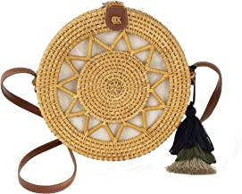 Special Design Wicker Straw Bag Purse for Women   Hand Woven Boho Bali Ata Rattan Crossbody Handbags