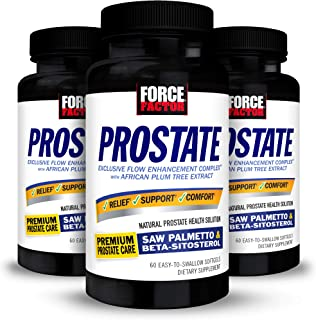 Force Factor Prostate Saw Palmetto and Beta Sitosterol Supplement for Men, Prostate Health Support, Size Su...