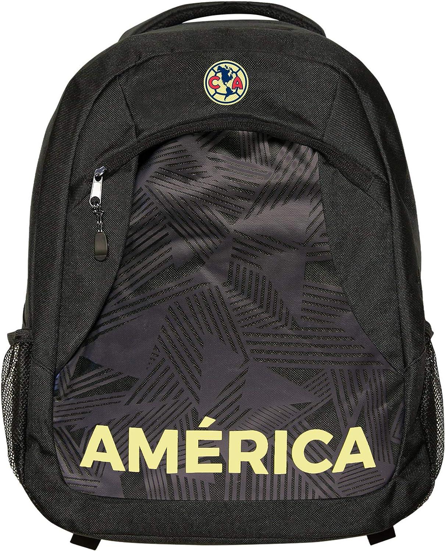 Icon Sports Fan Shop Officially Licensed Premium Backpack Federaci/ón Mexicana de F/útbol Asociaci/ón Club Am/érica Team Color OSFM