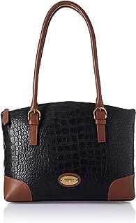 Hidesign Women's Shoulder Bag (Black Tan)