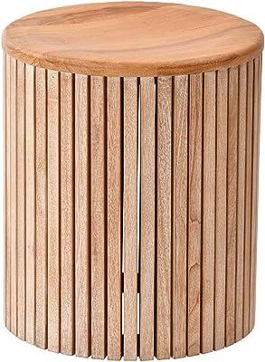 サンフラワーラタン スツール ブラウン 幅36×奥行き36×高さ42cm チーク無垢材 スツール C480XP