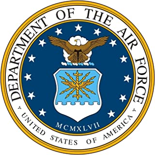 1 Set Monumental Unique United States America Department of The Air Force MCMXLVII Stickers Sign Bumper Home Car Decor Bike Patches Mac Apple Kids Decal Sticker Window Graphics Decals Size 3.5