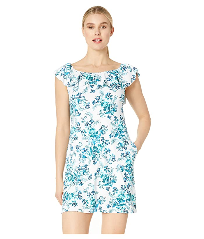 Tommy Bahama Floral Isles Over the Shoulder Spa Dress (Caledon Sea) Women
