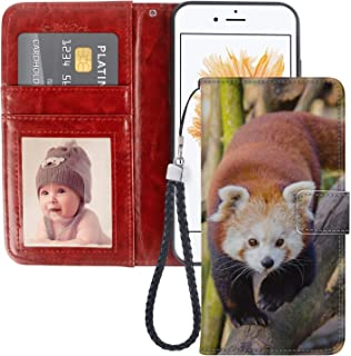 Red Panda 6 Wallet Case Compatible for Apple iPhone 5/SE/5S [5.5-Inch] for Girls