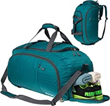 SKYLE 3-Way Gym Sport Bag Travel Duffel Bag Backpack with Shoe Compartment