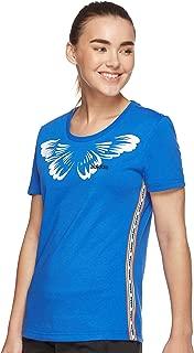 adidas Women's W FARM PRINT T-Shirt, Blue (Blue/white), Small, 8-10