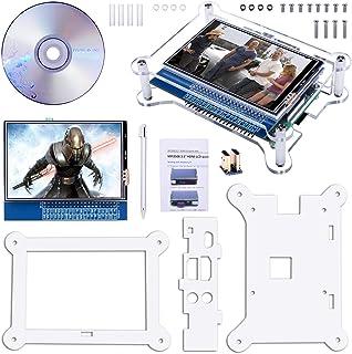 Quimat 3.5インチタッチスクリーン Raspberry Pi ディスプレイ TFT LCD モニタ HDMI GPIO端子 保護ケースキット Raspberry Pi 3 2 Model B B+ A A+ ラズベリーパイ QC35C