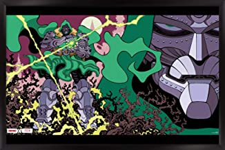 """Trends International Fortnite X Marvel Doom Unleashed Wall Poster, 22.375"""" x 34"""", Black Framed Version"""