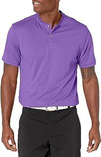 PGA TOUR Mens Pique Short Sleeve Polo with New Casual Collar