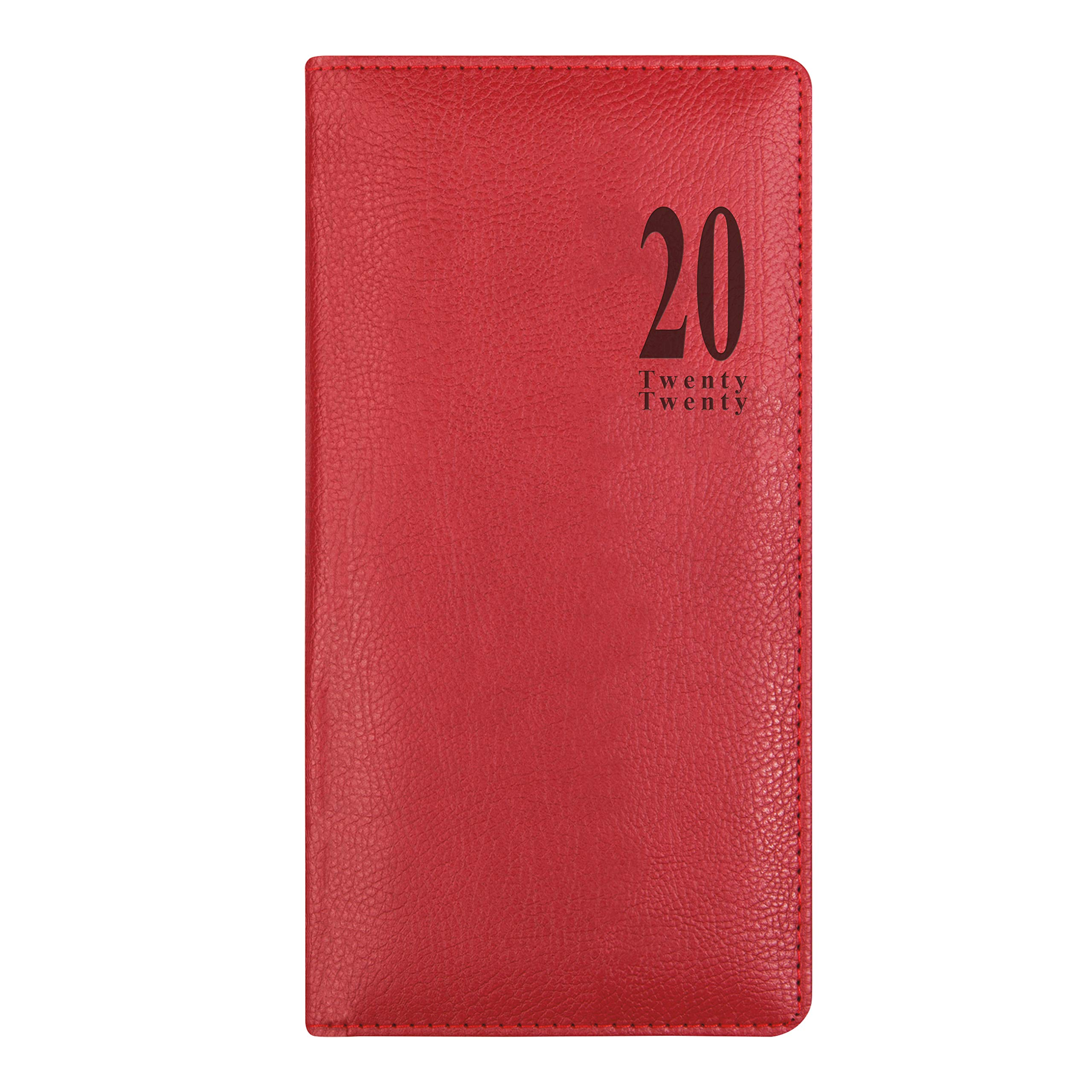 Week to View Planner 6.5 x 3.25 inches C38SUBE-20 Bonded Blue Letts 2020 Signature Vertical