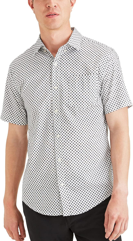 Dockers Men's Short Sleeve Button Down Comfort Flex Shirt Legacy